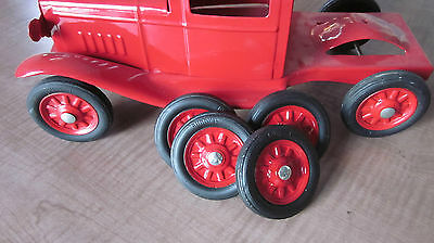 Buddy L wheels tires with hub caps, axle caps, replacement reproductions 1930'S