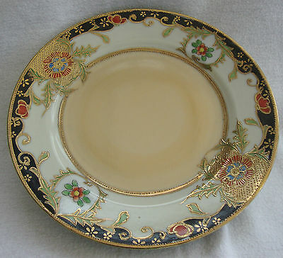 A PORCELAIN DELICATE GILT & FLORAL ORIENTAL JAPANESE HAND PAINTED SIDE PLATE