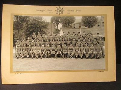 """Corporals' Mess Guards Depot July 1948 12 X 8"""" B&W 2 Portraits by Bunce Caterham"""