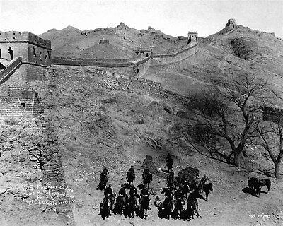 1900 MR 6th US Cavalry at Great Wall Of China Near Ming Tombs 8x10 Photo