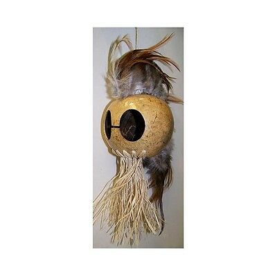 "Natural Ikaika Hawaiian Warrior Coconut Helmet ~ 3"" Coconut  # WR-0002 (Natural)"