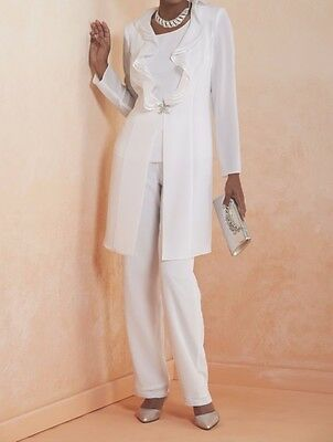 Mother of Bride Groom Wedding Party Prom evening  formal 3PC pant suit plus1X 2X