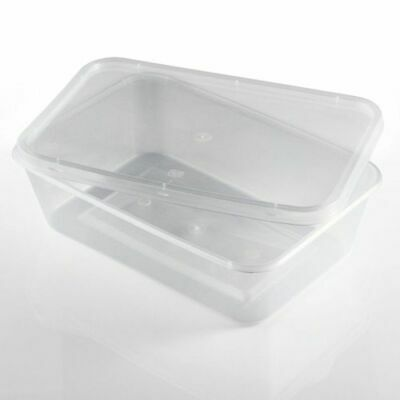 Plastic Containers Clear Tubs and Lids Microwave, Takeaway, Food Safe