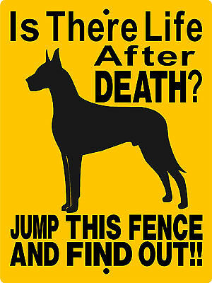 Great Dane  Aluminum Sign Vinyl Decal Dog Warning Security  2514Cy
