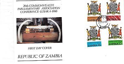 ZAMBIA 1980 Parliamentary STAMPS Unaddressed FIRST DAY COVER Ref:328