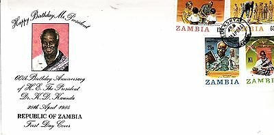 ZAMBIA 1987 President KAUNDA STAMPS Unaddressed FIRST DAY COVER Ref:319