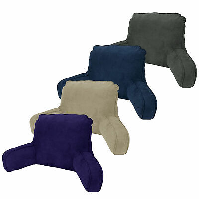 MADE IN AUSTRALIA Micro Suede Standard Backrest Pillow Oatmeal Navy Charcoal
