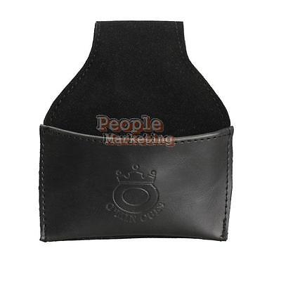 P4PM Black Faux Leather Chalk Holder Pouch with Clip Pool Billiards Snooker Cue