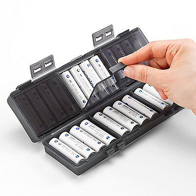 For Rechargeable Eneloop AA Battery Storage Case / AA Battery Case Holder /AA