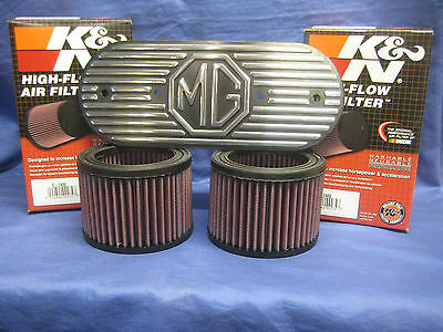 Mg   Mgb Roadster Or Gt 1800 K & N Air Filters With Alloy Plate   *Free Delivery