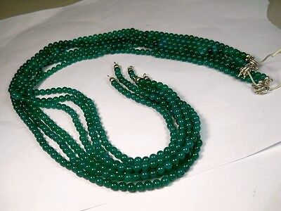 COLLANA AGATA VERDE 6 PEZZI FT COLLANE MIX AGATA BLU six necklaces agate stock