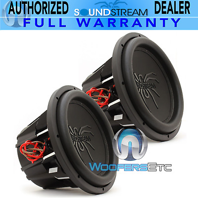 """(2) Soundstream T5.122 Pro Subs 12"""" 4000W Max Dual 2-Ohm Subwoofers Speakers New"""