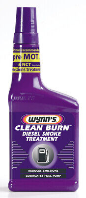 Wynns Clean Burn Diesel Smoke Treatment 325ml 67969 Reduces Black Smoke