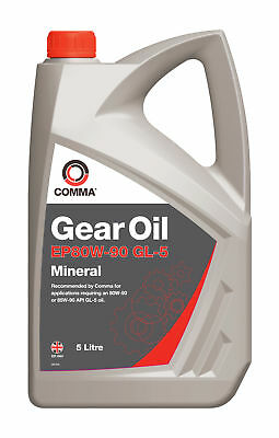 Comma Mineral Gear Oil EP80W-90 GL-5 5 Litres EP80905L for 80W-90 85W-90 API GL5