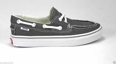 VANS Men Zapato Del Barco Shoes Skate Athletic Sneakers Canvas Pewter Gray