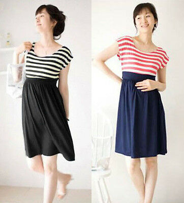 Summer Pregnant Women Clothing Maternity Short Sleeve Loose Casual Cotton Dress