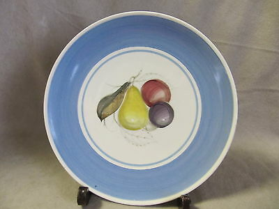 Susie Cooper Crown Works Fruit Pattern Blue - A  Dinner Plate  Very Good Cond.
