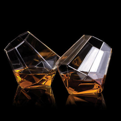 Whiskeygläser Diamant Whiskey Tumbler Diamond Whiskygläser Whisky im 2er Set