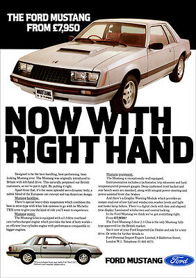 Ford Mustang 2.3 Turbo Retro Poster A3 Print From 80's Advert