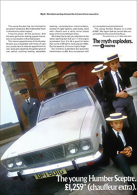 HUMBER SCEPTRE ROOTES RETRO A3 POSTER PRINT FROM 60's ADVERT