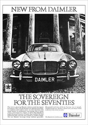 DAIMLER SOVEREIGN RETRO A3 POSTER PRINT FROM CLASSIC 70's ADVERT