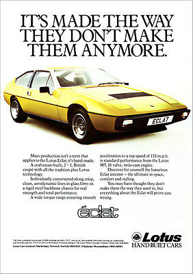 Lotus Eclat Retro A3 Poster Print From Classic 70's Advert 1979