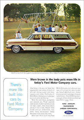 Ford Country Squire 64 Retro Poster A3 Print From Advert 1964