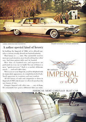 Chrysler Imperial Crown Southampton 1960 Retro A3 Poster Print From Advert 1960