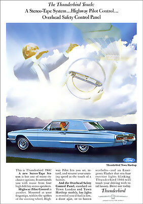 Ford Thunderbird 66 Retro A3 Poster Print From Classic Advert 1966