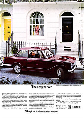 Triumph Herald 1360 Retro A3 Poster Print From 60's Advert