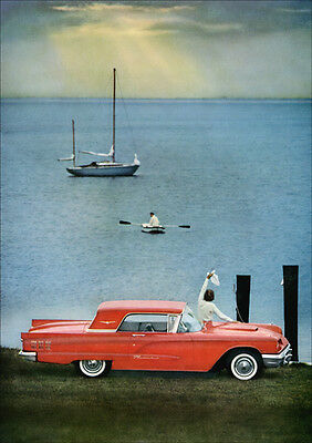 Ford Thunderbird 60 Retro A3 Poster Print From Advert 1960