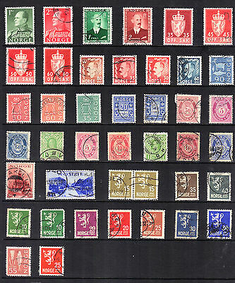 NORWAY Old Stamp Collection USED Ref:769
