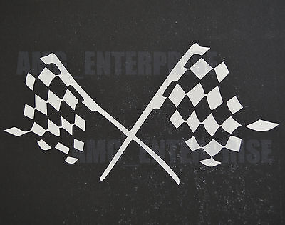 White Silver Chequered Flag Decal Sticker Vinyl for BMW 1 2 3 4 5 6 7 Series M6