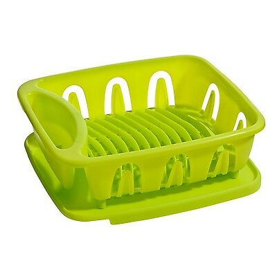 Premier Housewares 36X30.5X13Cm Lime Green Dish Drainer With Removable Drip Tray