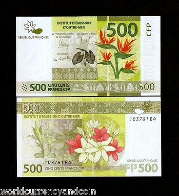 French Pacific Territories 500 Francs 2014 Sail Boat Wm Plant Unc Fpt Money Note