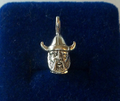 Sterling Silver 3D Solid 18x12mm Norwegian Viking Mascot Charm