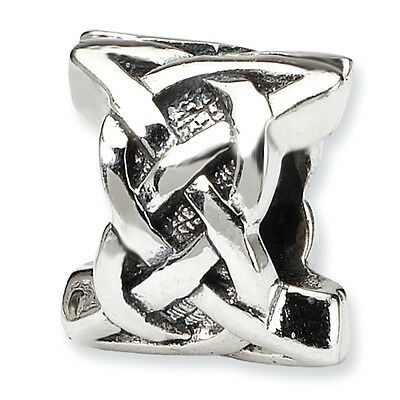 Celtic Bead .925 Sterling Silver Antique Finish Reflection Beads