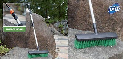 Gagitech™ Water Fed Decking Yard Brush Broom On Off Switch Connects To Hose Pipe