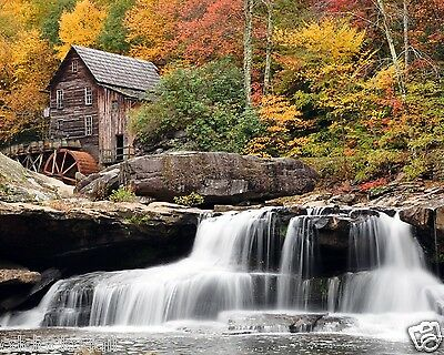 Waterfall / Landscape 8 x 10 GLOSSY Photo Picture