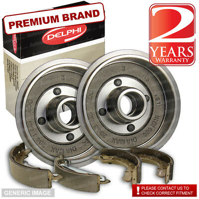 Fiat 500 1.2 Hatchback 68bhp Delphi Rear Brake Shoes & Drums 180mm