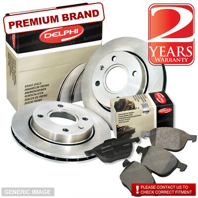 Ford Fiesta 02-08 1.25 5 5 69bhp Front Brake Pads /& Discs 258mm Vented