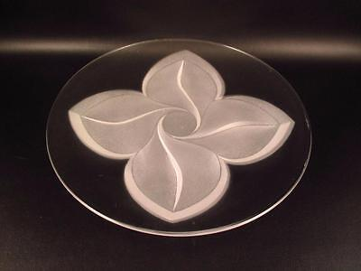 "Cristal d'Arques Florence 7.5"" Dessert / Salad Plate Frosted Flower Durand  (@@)"