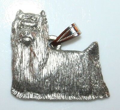 YORKIE Yorkshire Terrier Show Cut Dog Harris Fine Pewter Pendant USA Made