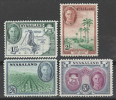 Nyasaland 1945 Kgvi Pictorial 1/- To 5/-