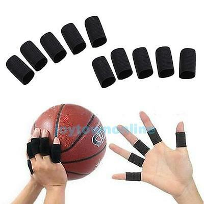 10Pcs Sport Basketball Stretch Finger Protective Sleeve Wraps Support Protector