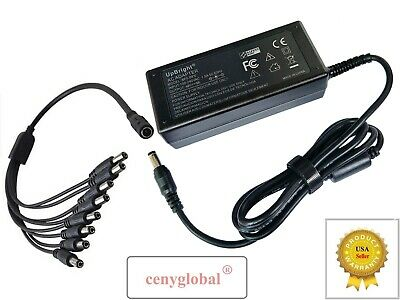 AC Adapter+Splitter Cord For Hikvision Surveillance/Network IP Camera 12V Series