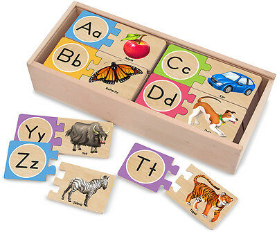 Melissa & Doug SELF-CORRECTING LETTER PUZZLES Baby/Toddler/Child Alphabet BN