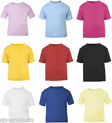 NEW Baby Toddler Boy/Girl Short Sleeve T-Shirt Top 100% Cotton 0 to 3 Years Kids