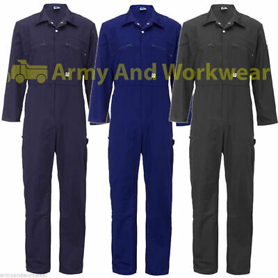 Ladies Zip Front Boilersuit Workwear Boiler Suit Coverall Overall Tuff Girls