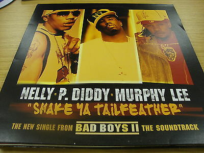"""Nelly,P Diddy,Murphy Lee Shake Ya Tail Feather (PS) 12"""" Vinyl Single"""